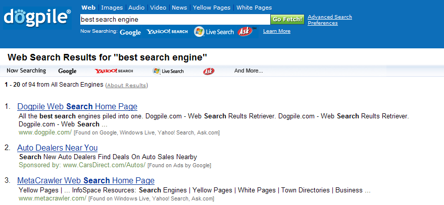 Free video search engines list autos weblog