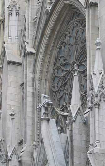 Detail of St. Patrick's Cathedral