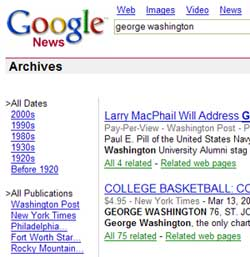 Partial Google News Archive Search Result