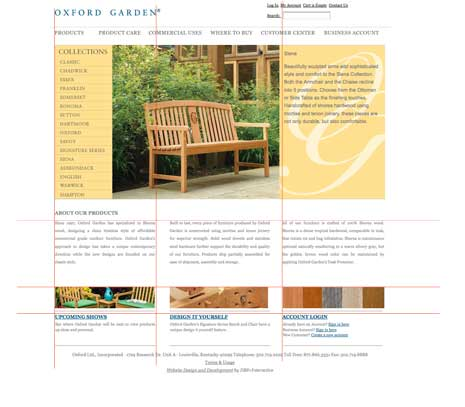 Screenshot of Oxford Garden site
