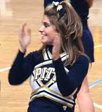 Cheerleader for the Pitt Panthers