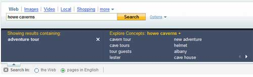 Yahoo Search Assist for the phrase howe caverns + 'adventure tour'