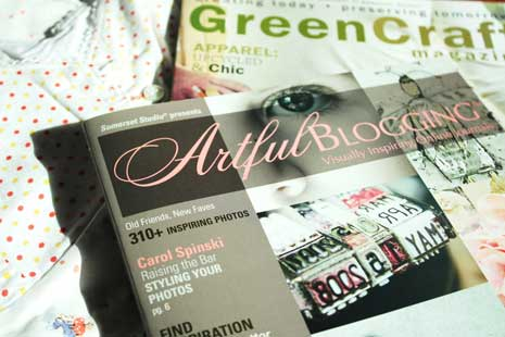 Artful Blogging Fall 09 & Green Craft magazine covers