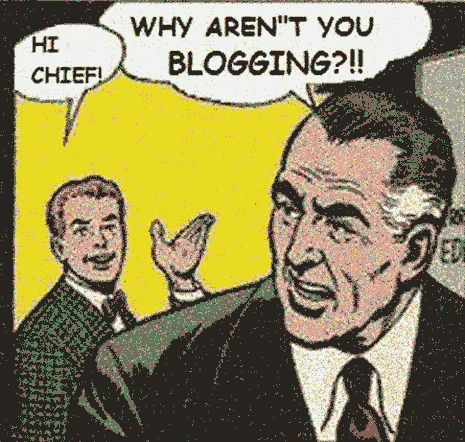 Comic book panel: Why aren't you blogging