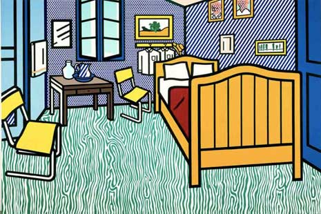 Bedroom at Arles by Lichtenstein