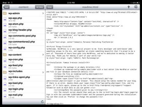 Markup code editor app for the iPad