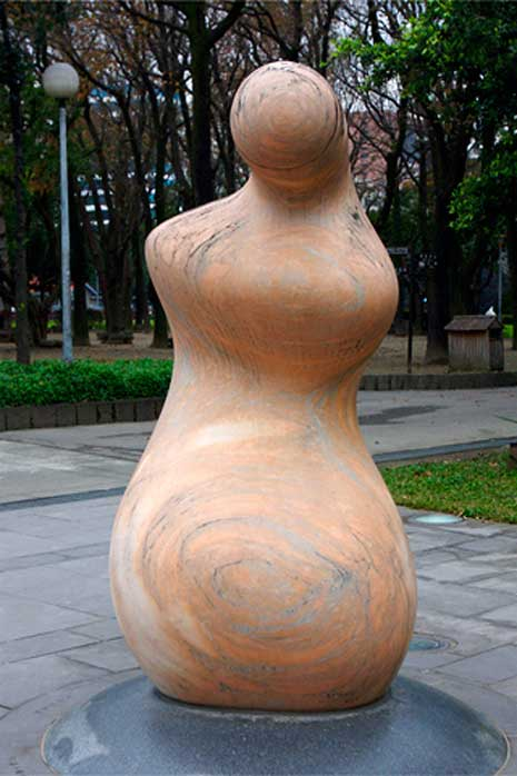 Abstract sculpture with an anthropomorphic form