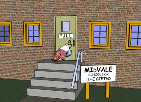 The Far Side school for gifted comic
