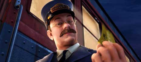 Train conductor from ThePolar Express
