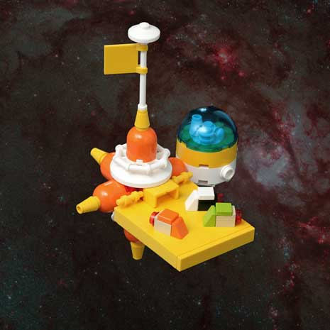 Faraway Station lego outpost in space