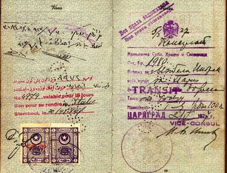 Isabel Ingram's 1927 passport