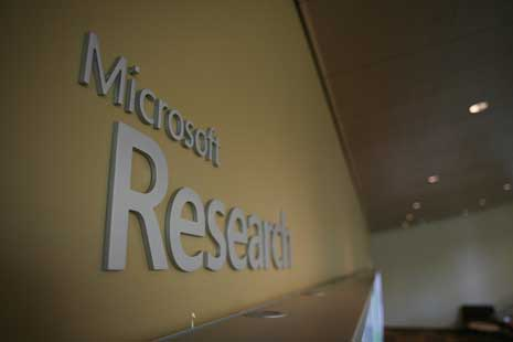 Sign saying Microsoft Research