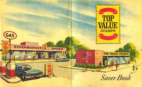 Illustration of a gas station from Top Value Saver Book