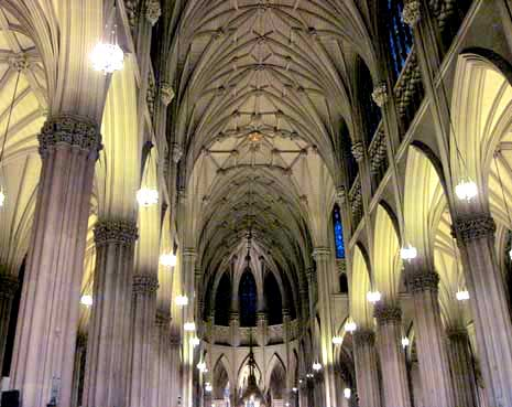 Inside Saint Patrick's Cathedral, New York