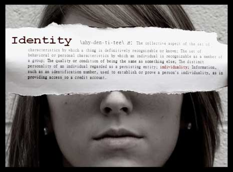 Girl who's identity is hidden by the word 'identity'
