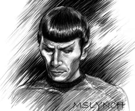 Pencil drawing of Mr. Spock