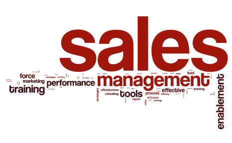 Tag cloud around the word sales