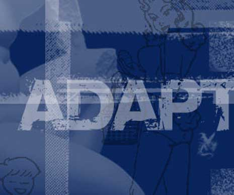 Digital art based on the word adapt