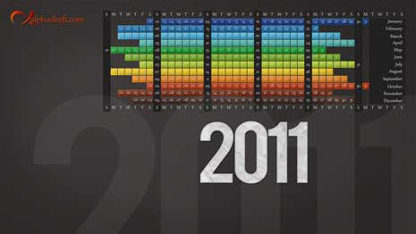 2011 desktop wallpaper calendar