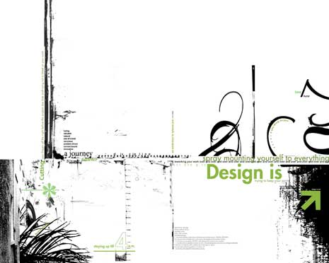 Abstract design around topic of what design-is