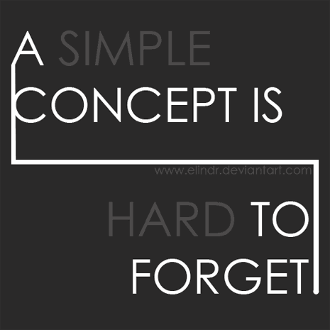 A simple concept is hard to forget