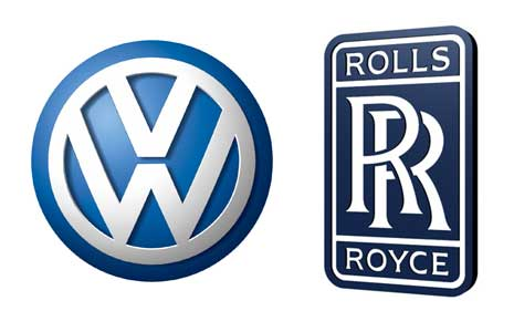 Volkswagen and Rolls Royce logos