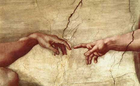 Detail of The Creation of Adam