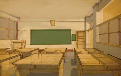 Illustration of a classroom