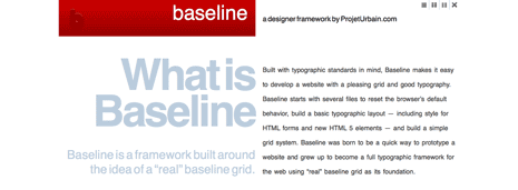 Home page for baseline framework website