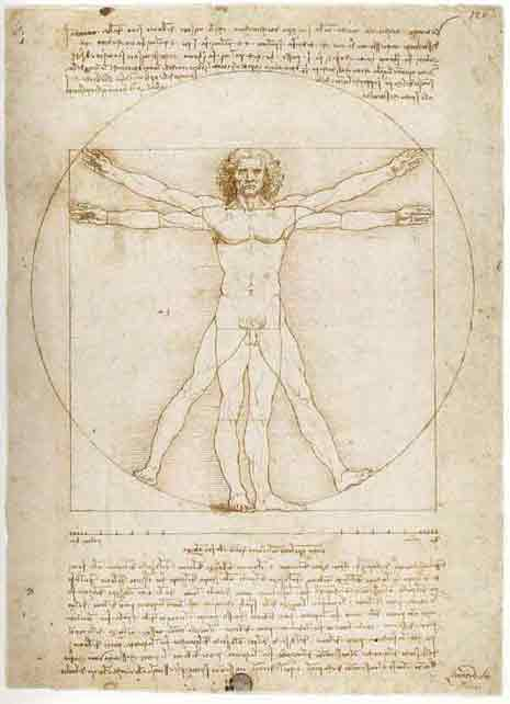 da Vinci's divine proportions of man
