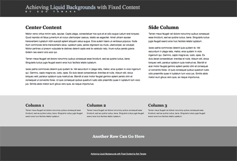 Fixed-width layout with fluid background