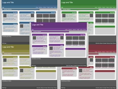 Generic web layouts