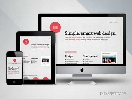 Responsive website seen on iMac, iPad, and iPhone