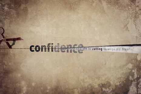 Abstract design around the word confidence