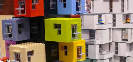 Modular Lego apartment building