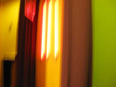 abstract photograph of vertical light