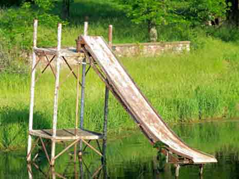 Rusted water slide