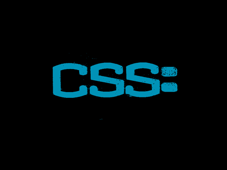 CSS written in blue on a black background