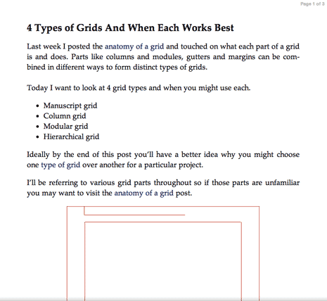 Screen shot from my original post on grid types as seen using Safari's Reader option