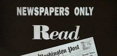 Newspapers only read The Washington Post