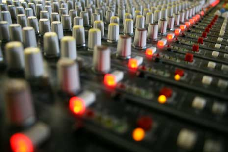 Repeating controls on a mixing board
