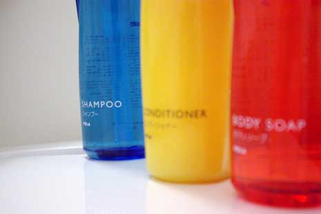 Shampoo, conditioner and body soap
