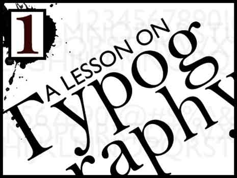 A lesson in typography