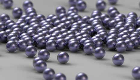 Random ball bearings shown through depth of field