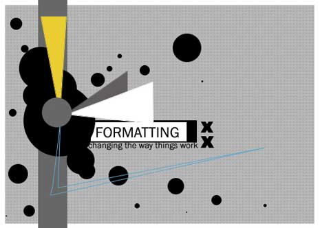 Abstract art with the word Formatting