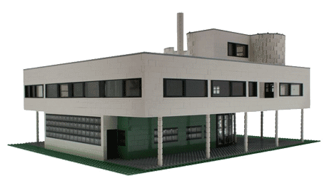 Model of Le Corbusier's Villa Savoye built with Lego