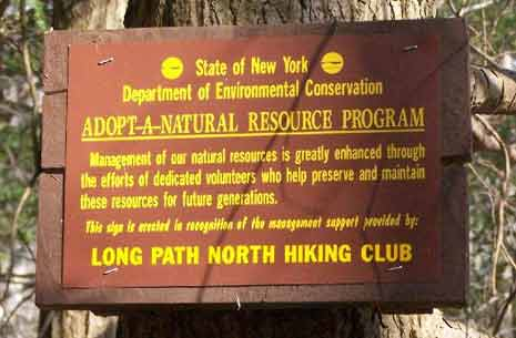Sign for NY State Adopt a Natural Resurce program