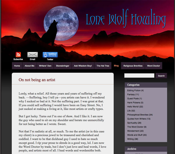 Screenshot of tomehowe.org/blog