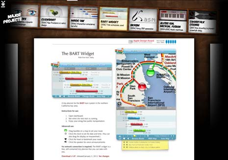 Screenshot from Bret Victor's website for the BART widget