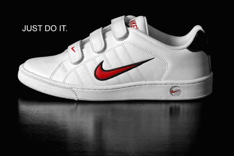 Sneaker by Nike with the slogan Just Do It